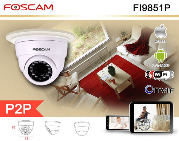 CAMERA WIRELESS FOSCAM FI9851P 2