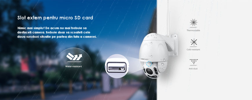 CAMERA WIRELESS FOSCAM FI9928P SPEED DOME 7